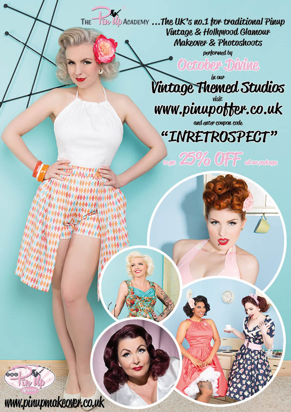 pinup makeover & photoshoot advert